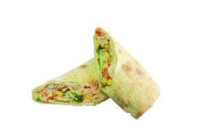 Chicken Wrap with sweet chilli sauce